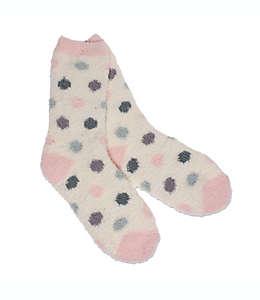 Calcetines para mujer talla Dot Butter 26-28 en rosa/marfil
