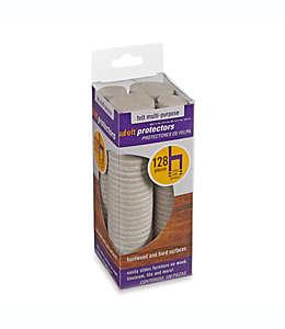 Protectores de felpa para superficies duras o de madera  128  piezas en avena