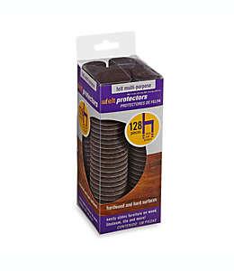 Protectores de felpa para superficies duras o de madera en marrón, Kit de 128