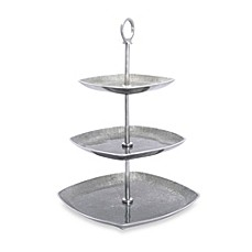 image of Simplydesignz Bodoni 3-Tier Server in Silver