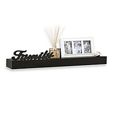 image of 24 inch decorative shelf with dimensional family inscription - Decorative Shelf
