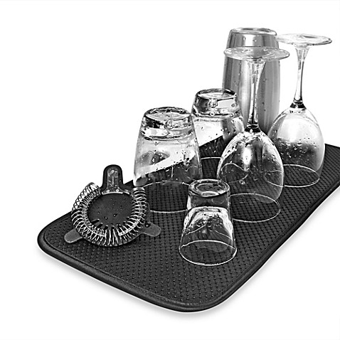 The Original Barware Mat In Black Bed Bath Amp Beyond