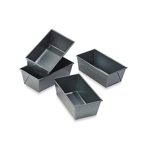 Chicago Metallic™ Professional Mini Loaf Pans with Armor-Glide Coating (Set of 4)