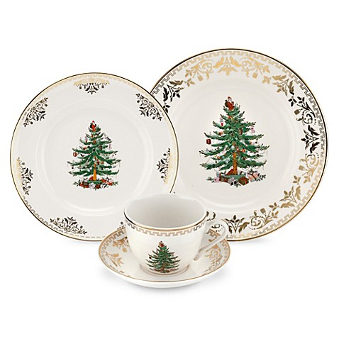Spode® Christmas Tree Gold Dinnerware Collection - Bed Bath & Beyond