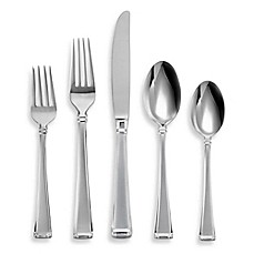 image of Lenox® Gorham® Column Frosted™ 45-Piece Flatware Set