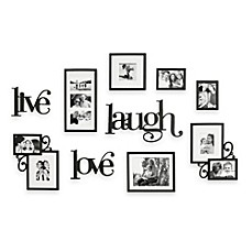 image of WallVerbs™ 10-Piece Live Laugh Love Wall Collection