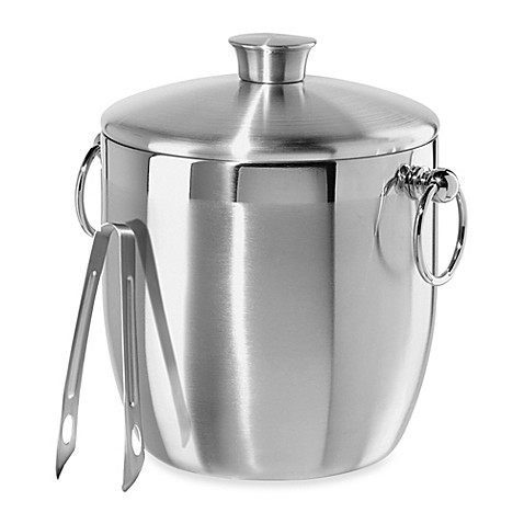Oggi Stainless Steel Double Wall Ice Bucket With Tongs