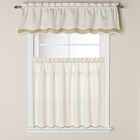 Buy pipeline 36 inch window curtain tier pair in bone from bed bath beyond for 36 inch bathroom window curtains