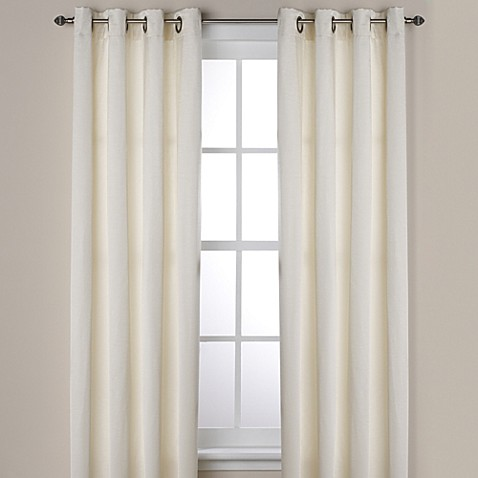 Buy Ashton 108 Inch Grommet Window Curtain Panel In Ivory