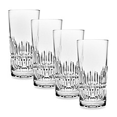 image of Top Shelf Hand Cut Crystal Facet Highball (Set of 4)