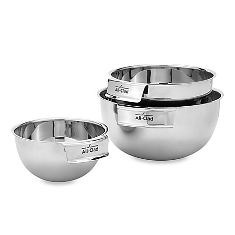 allclad 3piece stainless steel mixing bowl set