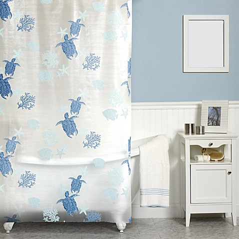 India Ink Solomon Islands 70-Inch x 72-Inch Shower Curtain - Bed ...