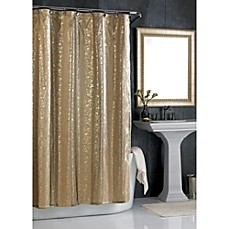 image of Sheer Bliss Shower Curtain in Gold