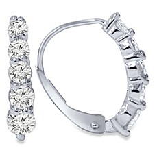 image of 14k White Gold 0.75ct Diamond Lever Back Earrings