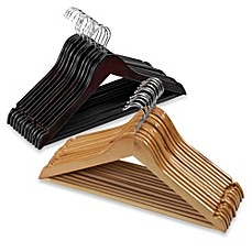 image of E-Z Do Wood Suit Hangers (Set of 10)