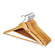 image of 10-pack Wood Suit Hangers
