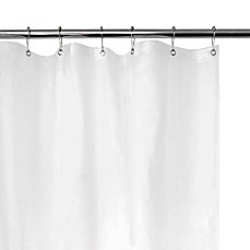 image of Extra Heavy Weight Vinyl Shower Curtain Liner in White