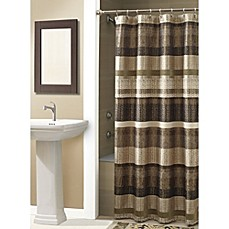 image of Croscill® Portland Shower Curtain in Bronze