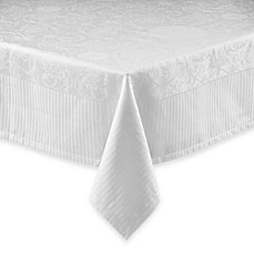 image of Garnier-Thiebaut Appoline Damask Tablecloth in White