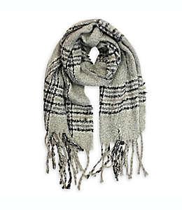 Bufanda para mujer a cuadros Isaac Mizrahi en gris