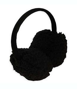 Orejeras de peluche para mujer en negro