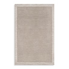 image of angelo:HOME Madison Square Bordered Rug in Cobblestone