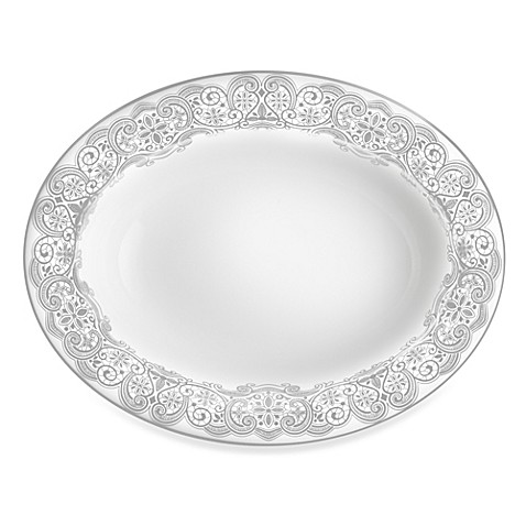 Waterford® Lismore Lace Platinum Oval Vegetable Dish