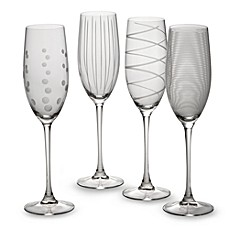 image of Mikasa® Cheers 8 oz. Toasting Flutes (Set of 4)