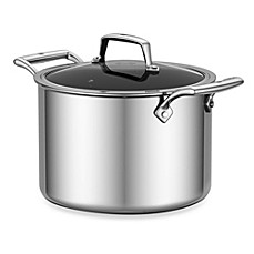 image of Zwilling J.A. Henckels Energy 8 qt. Ceramic-Coated Stainless Steel Covered Stockpot