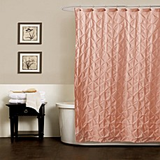 image of Noelle Pintuck Shower Curtains in Peach