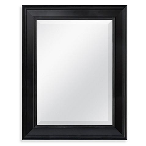 X 27 5 Inch Decorative Mirror In Black Bed Bath Beyond