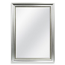 image of decorative 3025inch x 4225inch large wall mirror in silver