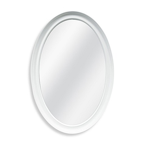 Decorative 21 inch x 31 inch oval mirror bed bath beyond for Fancy oval mirror