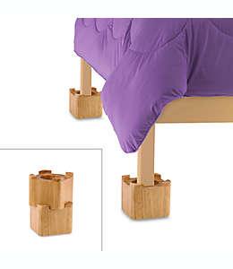 Elevadores de madera para cama, Set de 4