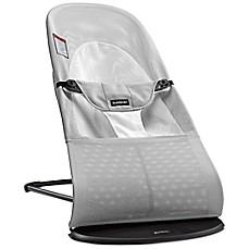 image of BABYBJORN® Bouncer Balance Soft in Silver/White Mesh