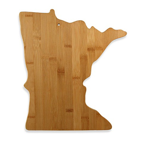 Totally Bamboo Minnesota State Shaped Cutting/Serving Board
