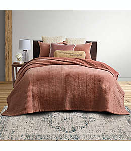 Set de colcha queen de terciopelo Bee & Willow™ Home en rosa desteñido