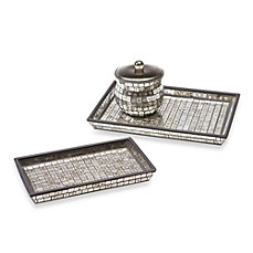 image of Bombay™ Moroccan Bath Large Glass Vanity Tray