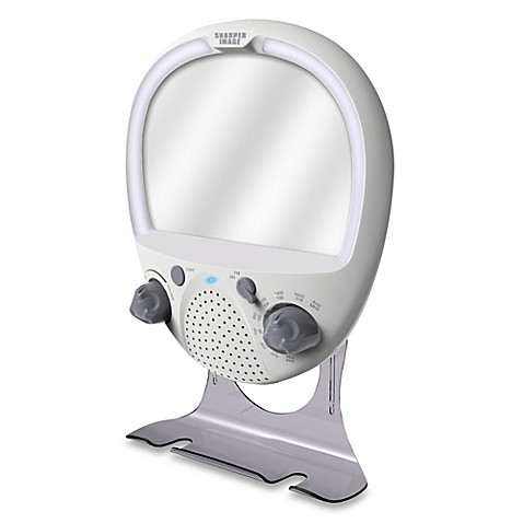 Sharper Image 174 Led Shower Radio And Anti Fog Mirror Bed