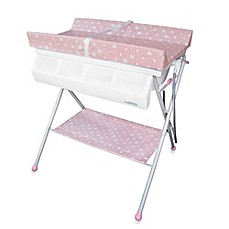 image of Baby Diego Standard Bath Tub & Changer Combo in Pink