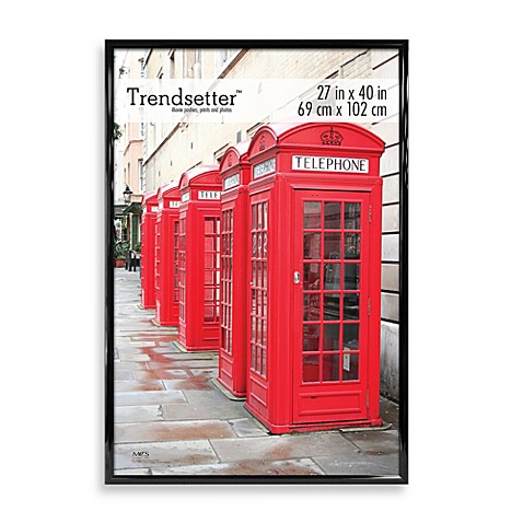 buy 27 inch x 40 inch poster frame in black from bed bath beyond. Black Bedroom Furniture Sets. Home Design Ideas