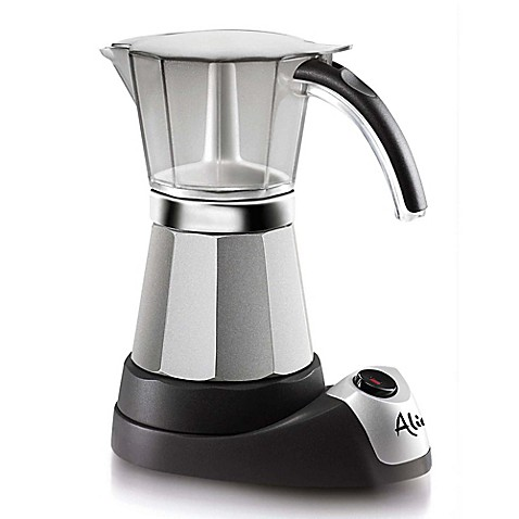 image of delonghi alicia emk6 electric moka espresso maker