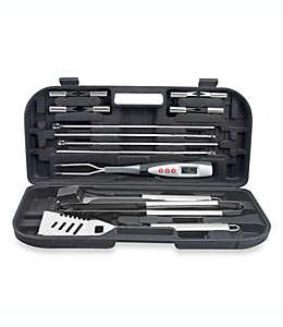Set de utensilios para parrilla Just Grillin'®, con trinche con termómetro digital