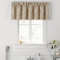 image of Vue® Signature Iron Gates Jacquard Valance in Ivory/Tan