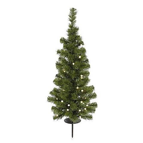 Vickerman 4 Foot Solar Powered Christmas Tree With Clear