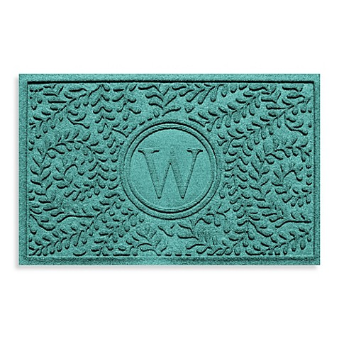 "Weather Guard™  Boxwood Monogrammed ""W"" 23-Inch x 35-Inch Door Mat"