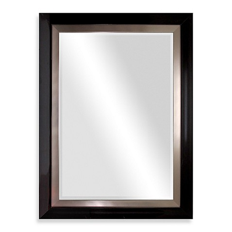 image of Biltmore 47 Inch x 35 Inch Wooden Veneer Large Mirror in Dark. Wall Mirrors   Large   Small Mirrors  Decorative Wall Mirrors