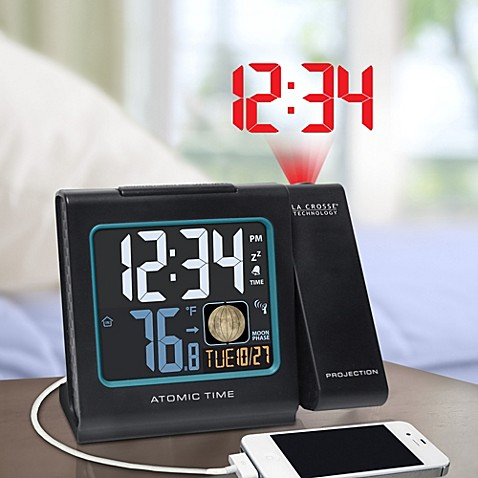 La Crosse Technology Atomic Projection Alarm Clock Bed