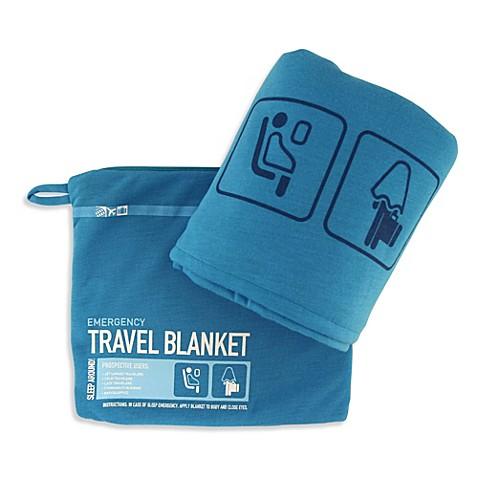 Flight 001 Travel Emergency Blanket in Blue