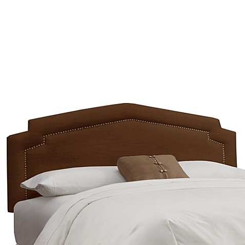 Buy Skyline Furniture Full Nail Button Headboard In Linen Chocolate From Bed Bath Beyond